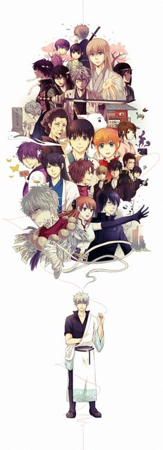 : Silver Soul Arc 2 - Second Season of the final arc of Gintama. All Anime, Anime Love, Manga Anime, Anime Art, Katsura Kotaro, Okikagu, Air Gear, Animes Wallpapers, Anime Characters