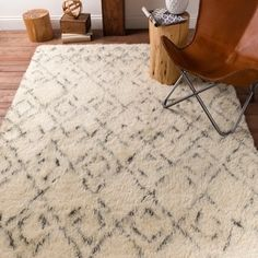 Hand-Woven Karl Geometric New Zealand Wool Rug (8' x 10') | Overstock.com Shopping - The Best Deals on 7x9 - 10x14 Rugs