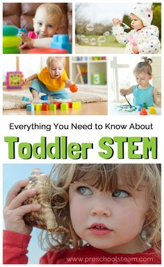 Everything You Need to Know About STEM for Toddlers. Try Science, Technology, Engineering, Art and Math activities with young learners! Stem Learning, Toddler Learning, Early Learning, Learning Time, Teaching Kids, Toddler Fun, Toddler Preschool, Toddler Stuff, Montessori Toddler
