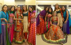 I like the design of the anarkali suit - 2nd girl from the right (in the green and beige)