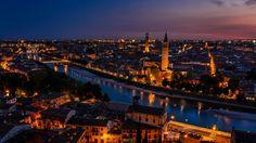 verona city italy beautiful evening wallpaper download hd
