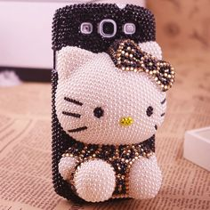 cute 3D hello kitty leopard fashion bling phone case for Samsung galaxy S3 hot sales charming phone cover for i9300 893 $39.50