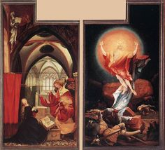 Matthias Grunewald c. 1515Annunciation and Resurrection