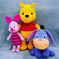 144 Superheroes, Babies, Animals and Plants Amigurumi Page amigurumi free pattern; amigurumi for beginners;Amigurumi crochet winnie the pooh free pattern. You can find free recipes and images of many amigurumi knitting toy models on our website. Crochet Animal Patterns, Crochet Patterns Amigurumi, Stuffed Animal Patterns, Amigurumi Doll, Crochet Animals, Crochet Dolls, Amigurumi Tutorial, Tutorial Crochet, Crocheting Patterns