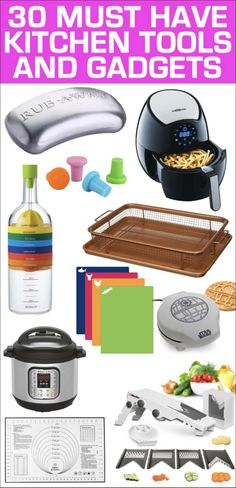 30 Must Have Kitchen Gadgets - Preparation Tools & Essentials