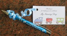 Cute #thankyou card for #namingceremony plus a #keepsake pen