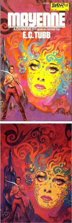 FRANK KELLY FREAS - Mayenne (Dumarest of Terra #9) - E.C. Tubb - 1973 DAW Books - cover by sci-fi-o-rama.com - print by tumblr