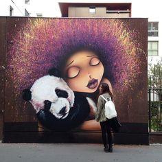 Mur de crèche Paris 13  Avec Doudou :) en espérant que ça plaise aux enfants!! by viniegraffiti