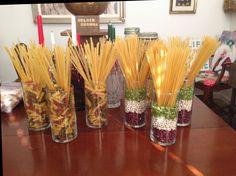 Italian pasta centerpieces event planning ideas scheme of italian party decorations Italian Party Decorations, Italian Centerpieces, Edible Centerpieces, Church Decorations, Trattoria Italiana, La Trattoria, Dinner Themes, Party Themes, Party Ideas