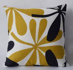 "One of a kind Marimekko Pillow Case Double-sidedPatterns: Frekvenssi and Heloskastanja 16""x16""(40x40cm) by PantsandPillows"