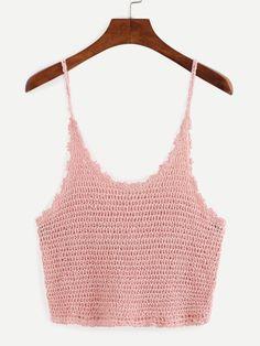Fabulous Crochet a Little Black Crochet Dress Ideas. Georgeous Crochet a Little Black Crochet Dress Ideas. Crochet Cami Tops, Crochet Shirt, Crochet Bikini, Knit Crochet, Black Crochet Dress, Summer Knitting, Simple Shirts, Crochet Fashion, Crochet Clothes