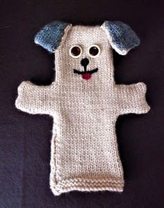 Great Balls of Wool: Free knitting pattern for a dog glove puppet. Great Balls of Wool: Free knitting pattern for a dog glove puppet. Knitting Patterns For Dogs, Puppet Patterns, Knitting For Charity, Knitting For Kids, Baby Knitting Patterns, Loom Knitting, Free Knitting, Knitting Projects, Knitting Needles