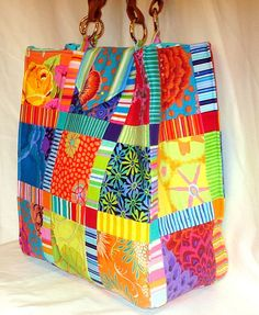 Great use of striped fabric. I love how colorful it is.