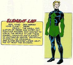 Element Lad of the Legion of Super-Heroes.  Art by Dave Cockrum.