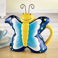 Unique Springtime Butterfly Teapot - 33573
