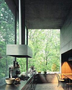 New House Forest Design Big Windows Ideas Arch Interior, Modern Interior Design, Interior And Exterior, Interior Decorating, Kitchen Interior, Kitchen Design, Architecture Design, Forest Design, Big Windows