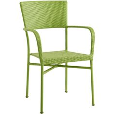 Pier 1 Imports Green Del Rey Stacking Chair ($72) ❤ liked on Polyvore featuring home, outdoors, patio furniture, outdoor chairs, green, green armchair, green arm chair, outdoor garden furniture, green patio chairs and stackable patio chairs
