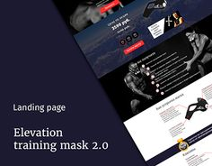 "Check out new work on my @Behance portfolio: ""Landing page_Elevation training…"