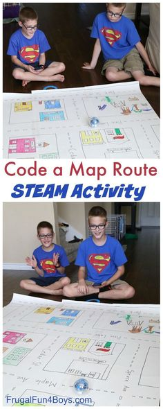 Code a City! STEM Coding challenge - code a path from one place to another on a city map