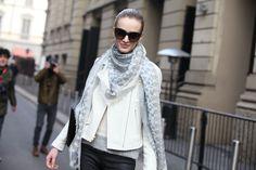 Street Looks at Fashion Week Fall-Winter 2013-2014 Milan