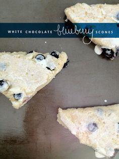 White Chocolate Blueberry Scones from Create Like Crazy :) @Jordan Brantley