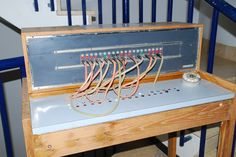 An old telephone switchboard