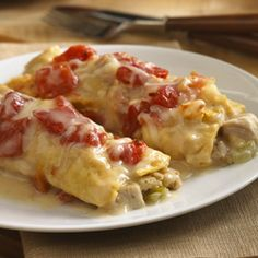 "Leftover Turkey and Stuffing ""Enchiladas"" - quick and easy recipe using Thanksgiving leftovers"