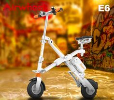 Smart Airwheel E6 Folding Electric Bike Gives Great Help for High School Students