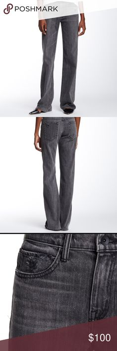 """•Helmut Lang• NWT Flare Jeans Helmut Lang NWT Flare Jeans. - Zip fly with button closure - 5 pocket construction - Light whiskering and fading - Distressed details - Flare leg - Approx. 34"""" length - Made in USA Shell: 98% cotton, 2% PU Lining: 65% polyester, 35% cotton Helmut Lang Jeans Flare & Wide Leg"""
