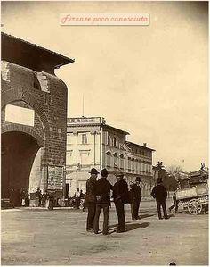 Porta alla Croce in Piazza Beccaria a #Firenze dopo il piano di rinnovo della città di Giuseppe Poggi, 1877-1890.