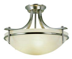 Bel Air Lighting 8172 BN 3-Light Semi Flush Mount #BelAirLighting