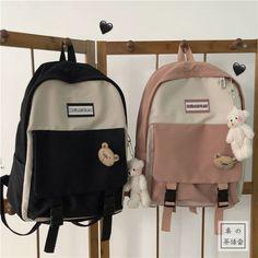 Girly Backpacks, Cute Mini Backpacks, Stylish Backpacks, Preppy Backpack, Backpack For Teens, Backpack Bags, College Bags For Girls, Girls Bags, Cute Messenger Bags