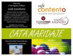 Cata Maridaje en Café Contento / #SanMigueldeAllende #Guanajuato / 7 Ago 2013