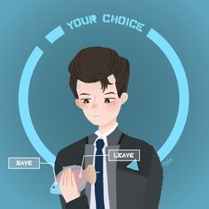 My fanart of Connor from Detroit become human