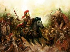 Alexander charging the persians