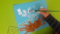 Handprint crab art | funnycrafts
