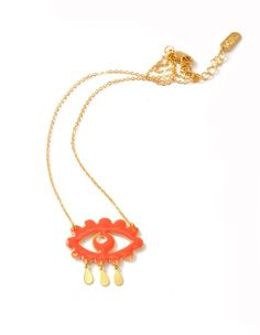 """Collier """"Oeil nuage"""" via luciesaintleuboutique. Click on the image to see more!"""