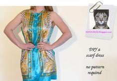 DIY Scarf Dress | DIY Bloggers Fashion Week Tutorial 3: D Inspired Scarf Dress by A ...