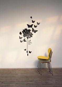 vynil wall clock