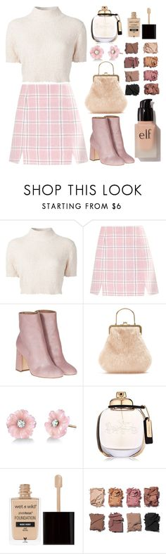"""""""Plaid"""" by saikoh ❤ liked on Polyvore featuring Rachel Comey, Laurence Dacade, Shrimps, Irene Neuwirth, Coach, Wet n Wild, Illamasqua, e.l.f., Pink and plaid"""
