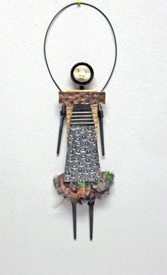 Mixed media altered doll