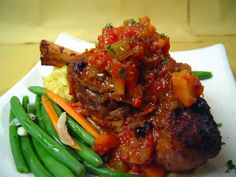 The Brasato, our braised lamb shank entree.