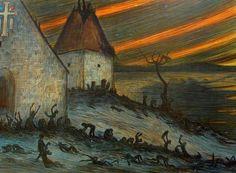 ''Black Death in Finland 1350'' by Hugo Simberg {c.1906}