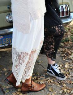 DIY Lace Layering Skirt