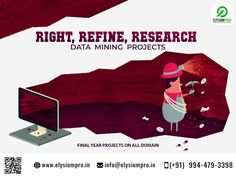 Data Mining Projects ideas & support by ElysiumPro... #elysiumpro #finalyearproject #it #dataminingprojects #projectcenter #datamining