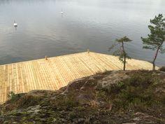 Brygga / Jetty - Ingarö. Stockholm Archipelago. Built by Red Mount AB for client of Sjöliv. + 46(0)700534688. janis@redmount.se