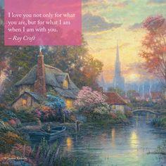 "Valentine's Day Inspiration  ""Nanette's Cottage"" – Thomas Kinkade – 2009 - #valentinesday #inspirationalquote"