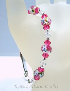 Karen's Artistic Touches Store - Bright Pink Rose Swarovski Crystal Beaded Medical ID Alert Bracelet, $17.99 (http://www.karensartistictouches.com/bright-pink-rose-swarovski-crystal-beaded-medical-id-alert-bracelet/)