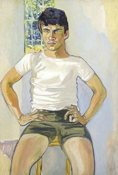 Alice Neel Portrait of Daniel Algis Alkaitis, Class of 19651967Oil on canvas More male art atwww.theartofman.netandwww.vitruvianlens.com