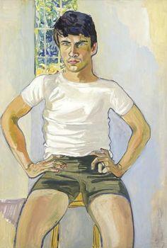 Alice Neel, Portrait of Daniel Algis Alkaitis, Class of 1965 (1967)